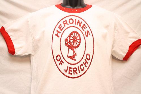 Heroines of Jericho logo shirt with rhinestone neckline