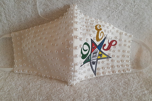 OES - Order of The Eastern Star Pearl face mask