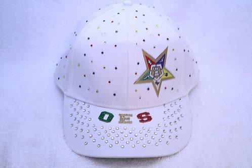 OES Order of The Eastern Star rhinestone ball cap