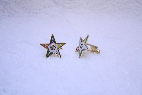 OES - Order of the Eastern Star cuff links