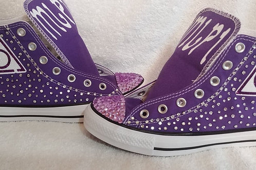 LOCOP Ladies of The Circle of Perfection logo Converse custom tennis shoes