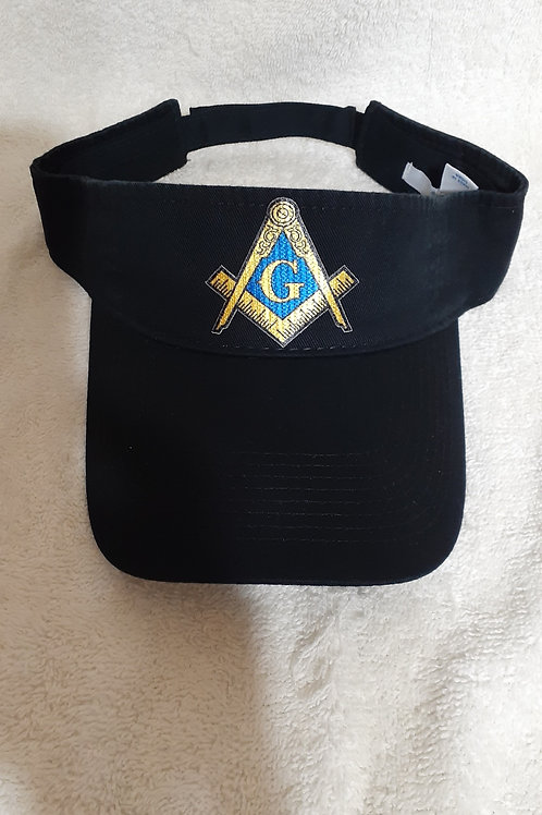 Master Mason sun visor with square and compass logo