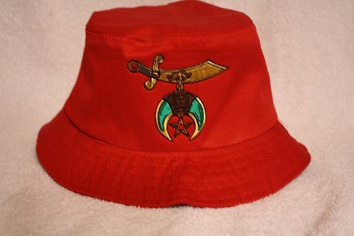 Shriner/Noble floppy bucket hat with scimitar logo