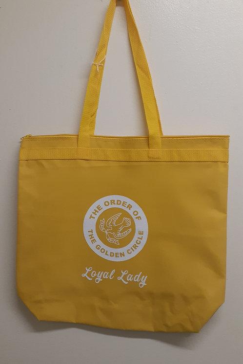 Order of The Golden Circle logo zipper tote bag