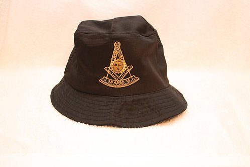 Past Master Mason bucket floppy hat with logo emblem