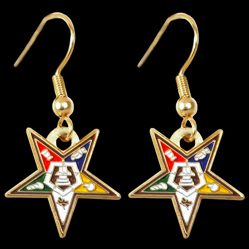 OES - Order of the Eastern Star logo earrings