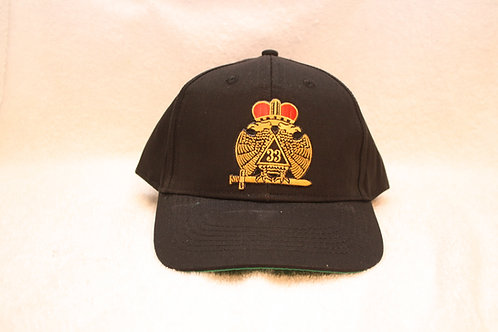 32nd & 33rd Consistory Mason Wings Down adjustable ball caps with logo emblem