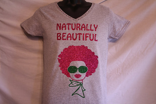 Naturally Beautiful Afro Diva t-shirt