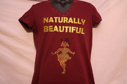 Naturally Beautiful rhinestone PriS'e Girl t-shirt