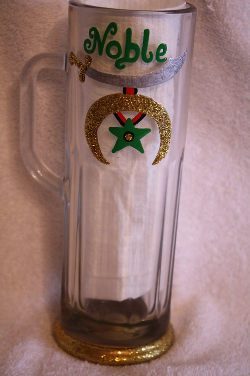 Noble and Camel hand painted glass mug/stein