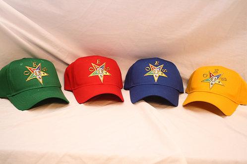 OES - Order of the Eastern Star snap back, adjustable, or loop and hoop ball cap