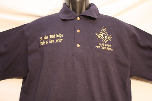 Mason personalized knit polo shirt with Square & Compass logo