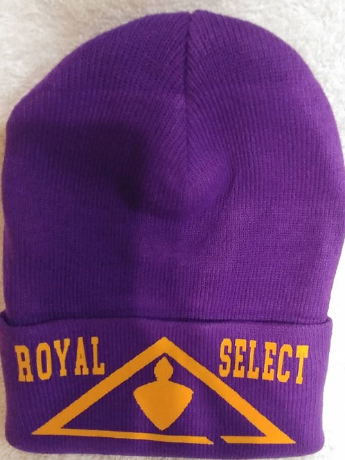 Royal & Select Masters Mason logo knit hat (with break on left or right)