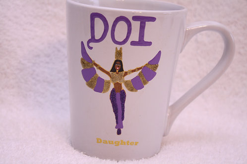DOI Daughter hand painted ceramic mug