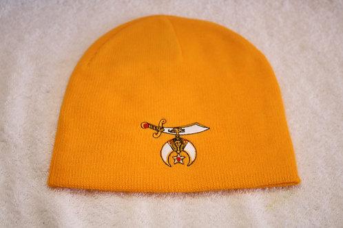 Shriner knit hat with scimitar logo emblem