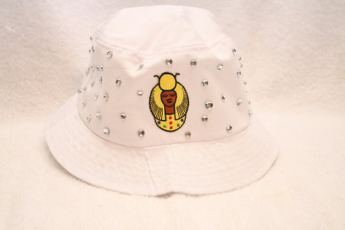 DOI PHO Daughter rhinestone bucket floppy hat with logo emblem
