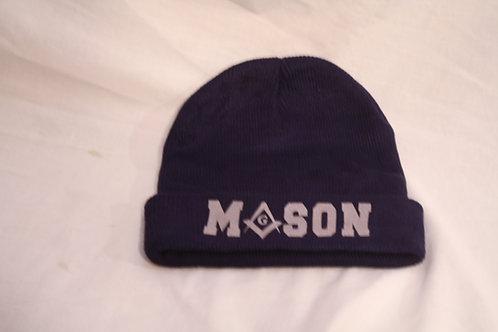 Mason cuffed knit skull cap with Square & Compass logo image