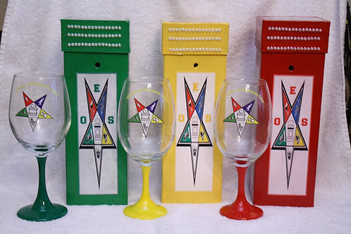 OES- Order of The Eastern Star glassware & carrying case set
