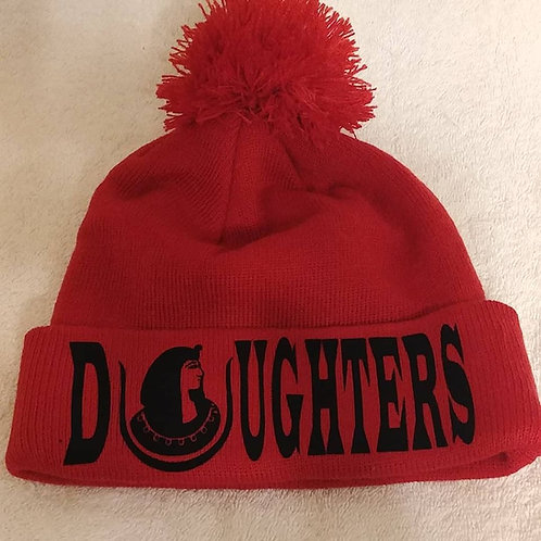Daughters DOI PHA cuffed beanie hat with top pom