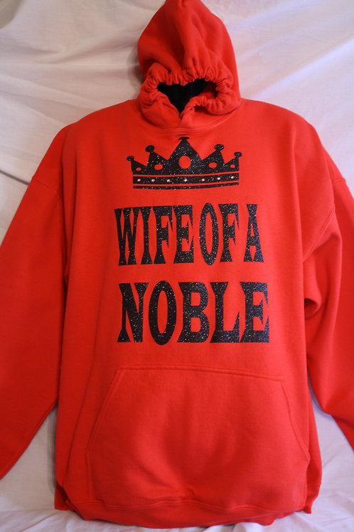 Wife of a Noble hoodie sweatshirt with crown image