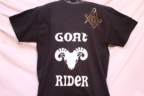 Mason goat rider t-shirt with compass & square
