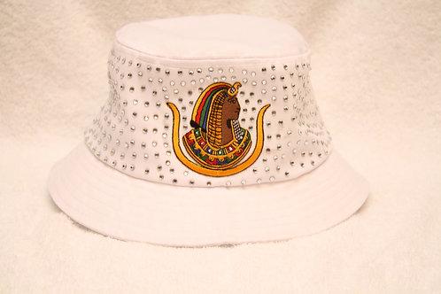 DOI PHA Daughter rhinestone bucket floppy hat with logo emblem