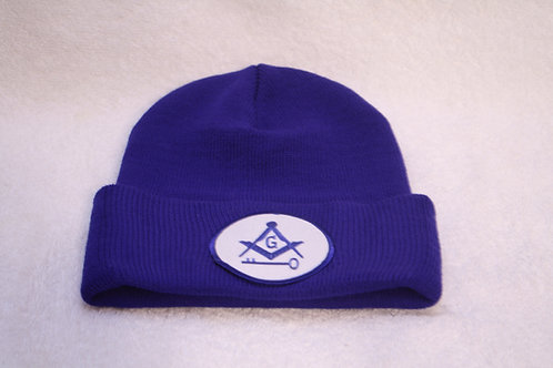 Masonic International Brotherhood knit hat with embroidered logo emblem