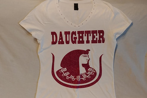 Daughter PHA logo glitter white shirt