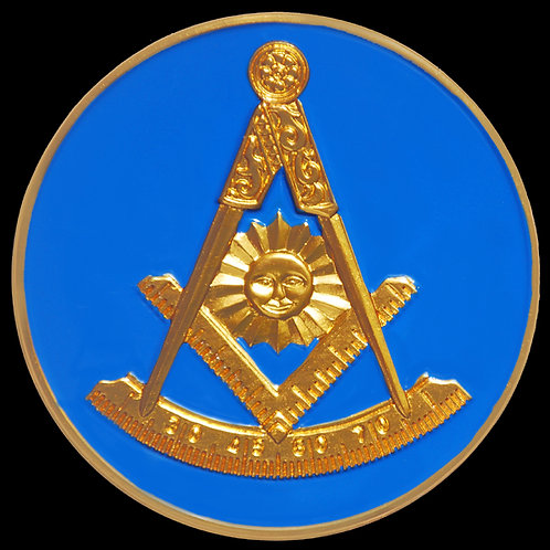 Past Master Mason auto badge decal