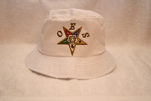 OES - Order of The Eastern Star bucket floppy hat with logo emblem