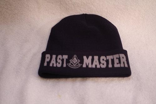 Past Master Mason cuffed knit skull cap with logo image
