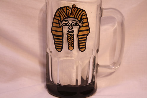 Pharaoh hand painted glassware