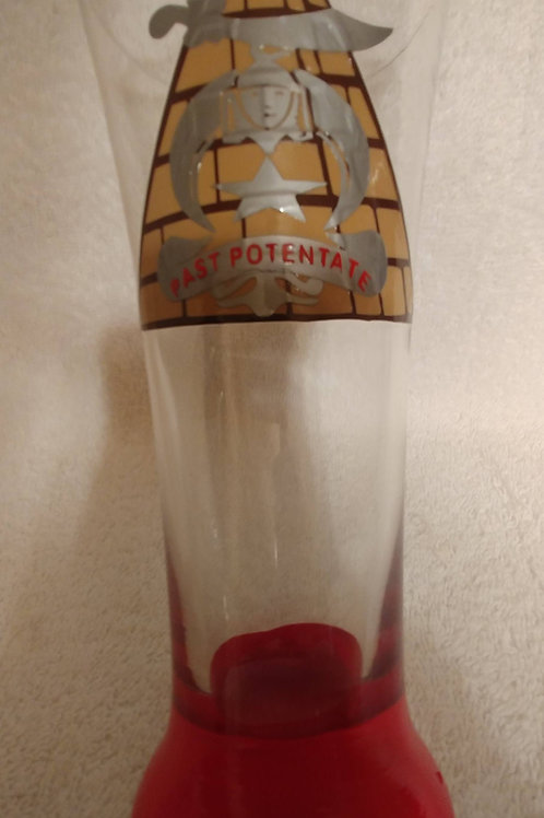 Past Potentate of the Mystic Shrine glassware with logo pyramid and scimitar