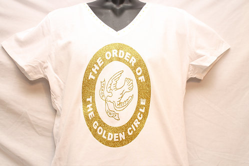 The Order Of The Golden Circle logo shirt with rhinestone neckline