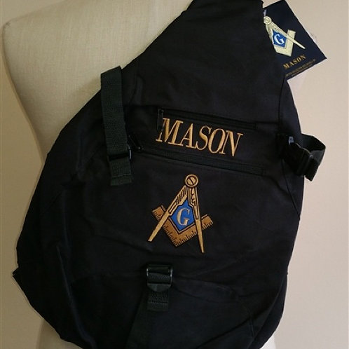 Mason sling messenger backpack