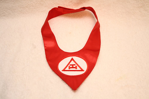 Royal Arch Mason neck wear with embroidered logo emblem