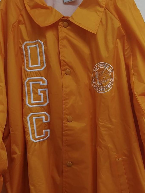 Order of The Golden Circle logo embroidered nylon line jacket