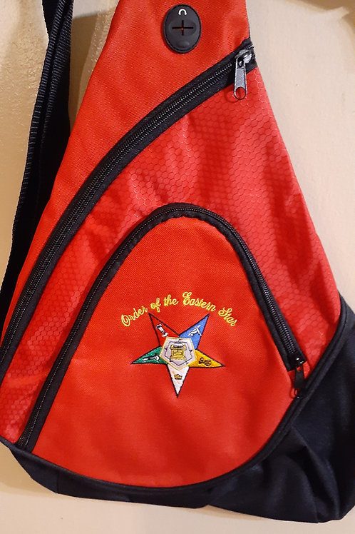 OES - Order of The Eastern Star embroidered logo sling backpack (smaller size)