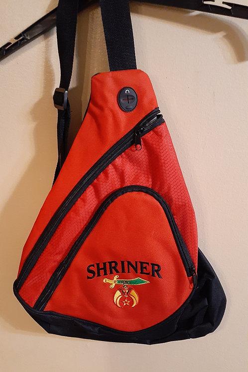 Shriner scimitar embroidered logo sling backpack (smaller size)