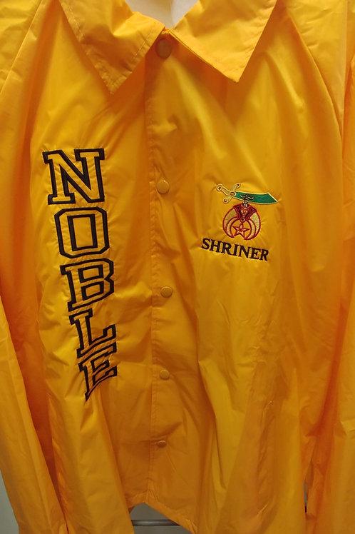 Shriner embroidered scimitar logo nylon Noble line jacket