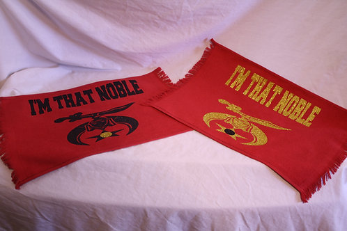 I'M THAT NOBLE fan towel with Shine scimitar logo