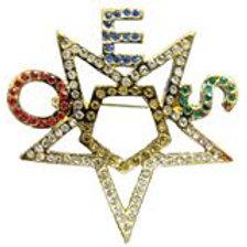 OES - Order of the Eastern Star rhinestone pin