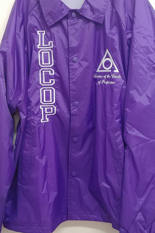 LOCOP Ladies of The Circle of Perfection embroidered logo nylon line jacket