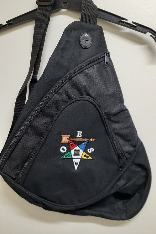OES - Order of The Eastern Star embroidered logo with the gavel sling backpack