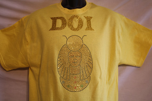 DOI PHO rhinestone logo t-shirt