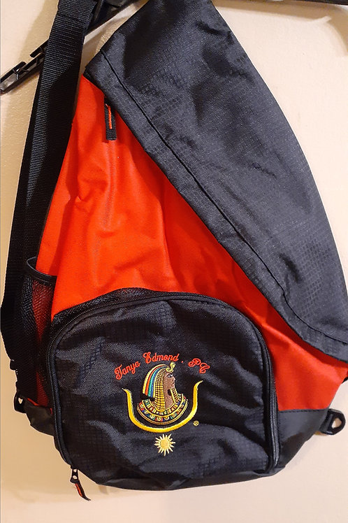 Past Commandress Daughter DOI PHA embroidered logo sling backpack (larger size)