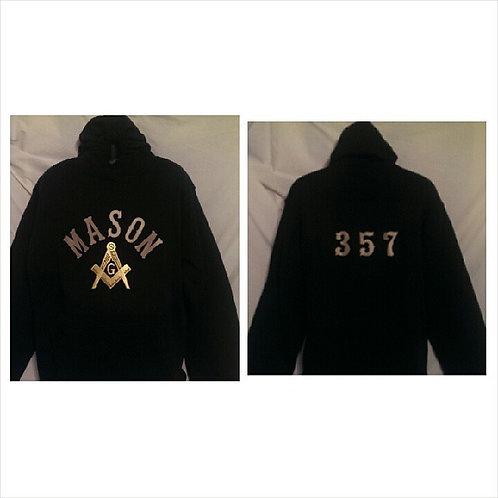 Mason hoodie sweatshirt 357 on the back