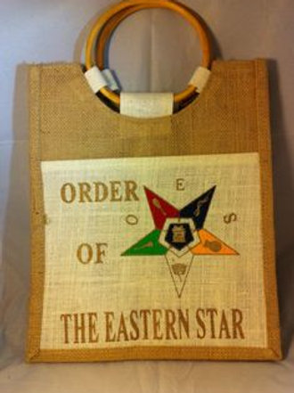 OES - Order of the Eastern Star small jute tote
