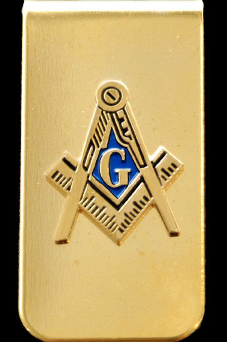 Mason gold tone compass & square money clip