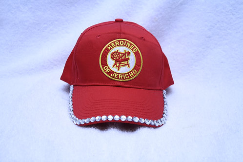 Heroines of Jericho ball cap with rhinestone lid & embroidered logo emblem